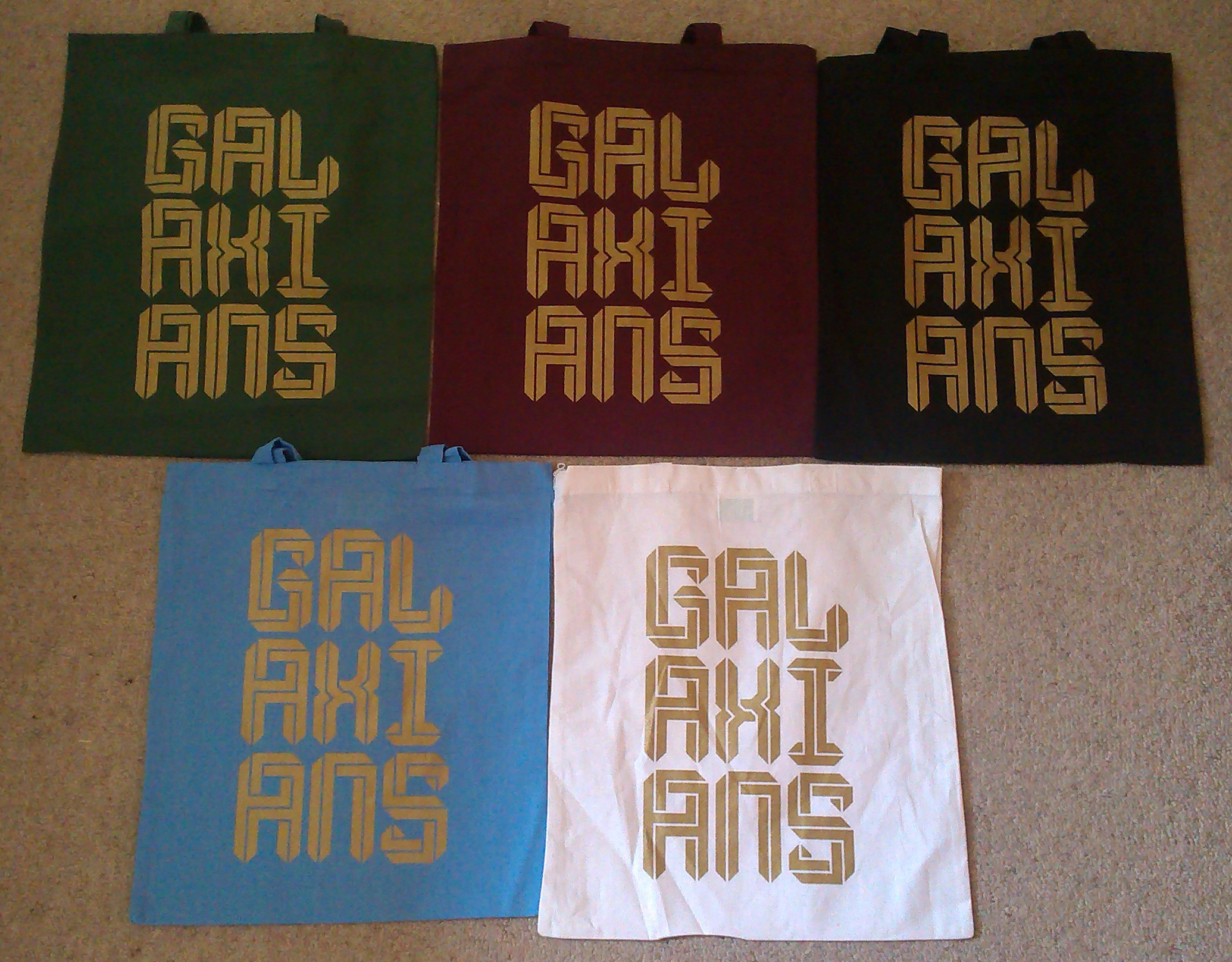 LIMITED EDITION GALAXIANS TOTE BAGS AVAILABLE NOW!!