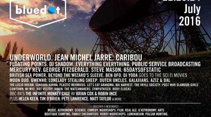 GALAXIANS ANNOUNCED FOR BLUEDOT FESTIVAL, JODRELL BANK OBSERVATORY